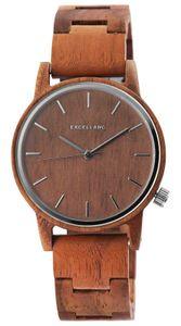 Excellanc Uhr Holz Armbanduhr braun 2800052-002 Herrenuhr
