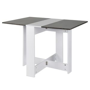 Klapptisch Esstisch Tisch klappbar Raumwunder 103*76*73.4cm Tisch Möbel Weiß+dunkelgrau