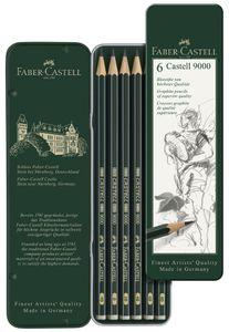 FABER-CASTELL Bleistift CASTELL 9000 6er Metalletui