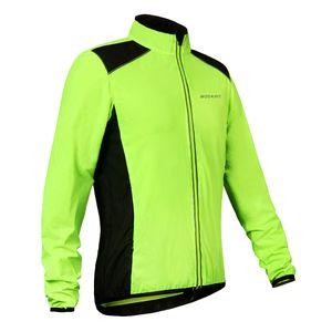Fahrrad Trikot Jersey Radjacke mit Reflektierendes Streifen Radfahren Sports M. Schwarz mit Grün