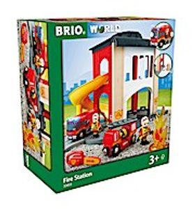 BRIO World - 33833 Große Feuerwehr-Station mit Einsatzfahrzeug