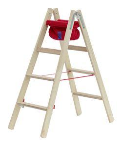 Holz-Stufenstehleiter 2x4 Stufen Hymer 7149908