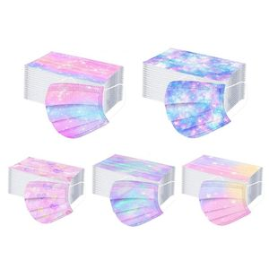Gradient Sterne 100 eine Packung (E) $ Stern Stern Gradienten Masken, gedruckten Masken Masken 5 Farben