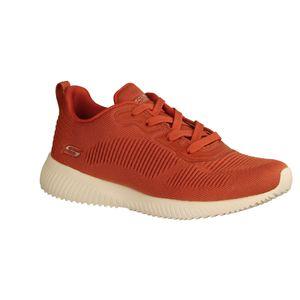 Skechers Bobs Squad 32504-BRCK Damen Sneaker, Textil, Brick, NEU, waschbar - Damenschuhe Sneaker, Rot