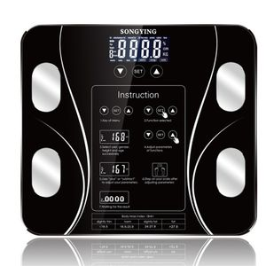 Mrosaa Digitale Körperfettwaage, Körperanalysewaage mit Bluetooth, bis 180kg, 13 wichtige Körperdaten wie Wasser, Muskeln, Knochen, Viszerales Fett, BMI etc. Apple & Android
