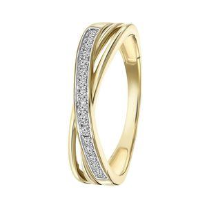 Ring aus 585 Gelbgold mit Diamant -  55