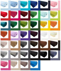Bastelfilz 1m Meterware Filz 90cm x 1,5mm Dekofilz Taschenfilz Filzstoff 39 Farben, Farbe:weiß