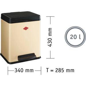 Wesco Ökosammler - 20 Liter - Weiß