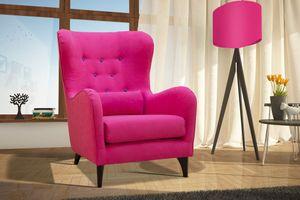 Selsey - Sessel PURLOA in Violettrot, Füße in Naturoptik