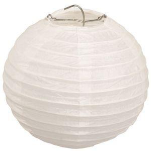 Papierlampions rund, Ø 13 cm, 6er-Set, weiss