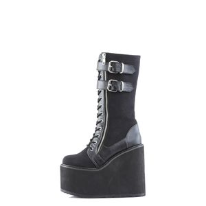 Demonia SWING-221 Stiefel schwarz, Größe:EU-36 / US-6 / UK-3