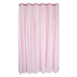 1 x Tür Gardienenen Wasser waschbar, nie verblassen Ösen Top Vorhäng 44mm 200x250cm-rosa