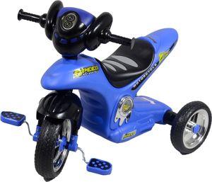 ib style® YUKI Dreirad Kinder Fahrrad mit Licht & Ton Blau