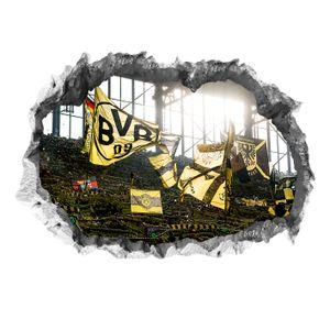 BVB Borussia Dortmund Wandtattoo Wand 3D Sticker Aufkleber Deko Poster Fankurve