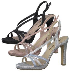 Tamaris Damen Sandalen Sandaletten High Heel 1-28335-26, Größe:39 EU, Farbe:Schwarz