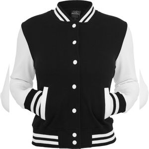 Urban Classics Ladies 2-tone College Sweatjacket, Farbe:blk/wht, Größe:M