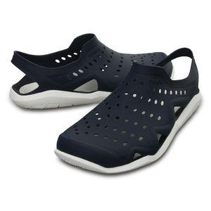 Crocs Herren Sport Freizeit Sandale Men's Swiftwater Wave blau, Größe:46-47