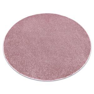 Teppich rund SANTA FE erröten rosa 60 eben, glatt, einfarbig Rosa rund 100 cm