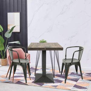 Esstisch mit 2 Stühlen Esszimmer Essgruppe Bistrotisch Bartisch Thekentisch Küchentheke Küchenbar 60x60x75cm