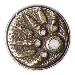 Noosa Chunk Tsukimi Brass/ White- Brass/ Powderstone (silber)