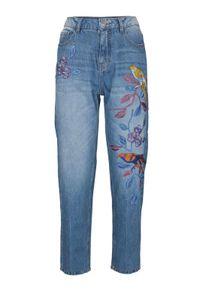 Heine - Best Connections Damen Slim-Fit-Jeans mit Stickerei, blau, Größe:38