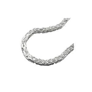 Kette ca.5mm Königskette vierkant glänzend Silber 925 70cm silber 5x5mm