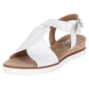 Gabor Comfort Sandalette  Größe 7, Farbe: weiss(Kork/offw