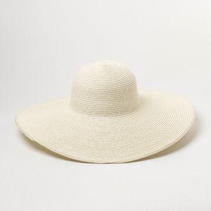 Sommer Einfarbig Stroh Hut Frauen Große Breite Entlang Der Strand Hut Einfache Faltbare Sonnenhut Sonnencreme UV Beständig Panama sonne Kappe