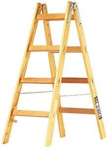 Brennenstuhl Holz-Stehleiter 2 x 4 Sprossen Höhe Stehleiter 1,2m, 1481040