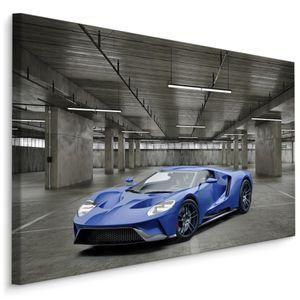 Fabelhafte Canvas LEINWAND BILDER 70x50 cm XXL Kunstdruck Auto Sportwagen Tiefgarage