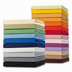 Schlafgut Spannbetttuch 15001-BASIC, 90/190-100/200cm, Mako-Jersey, Farben:124-curry