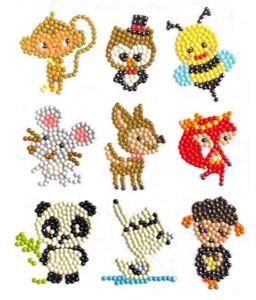 9 Stücke  Diamant Aufkleber,Stil 1, DIY Diamant Malerei Kits Tiermalerei mit Diamanten für Kinder und Erwachsene Anfänger