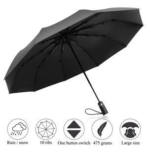 ADORIC Schirm Golfschirm automatischer Regenschirm Umbrella Sturmfest Taschenschirm Schützt vor Regen, Wind und Sonne,Uni für Damen und Herren,schwarz,33 * 6 * 6 cm.