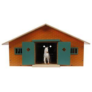 Van Manen Pferdestall mit 9 Boxen 62x42,5x22 cm im Maßstab 1:32