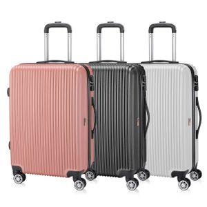 SAMAX Reisekoffer 'Economy' in verschiedene Farben und Größen (M, L oder XL), Farbe:Silber - L
