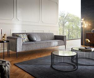 3-Sitzer-Sofa Nobility Grau 250x90 cm Federkern 3-Sitzer  by W. Schillig