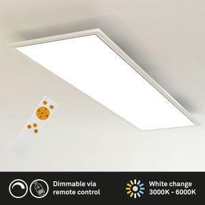 Deckenlampe LED Panel dimmbar CCT Fernbedienung Weiß 23 W Briloner Leuchten