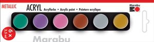 "Marabu Acrylfarben-Set ""METALLIC"" 6 x 3,5 ml"