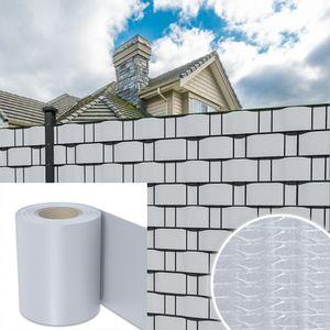 VINGO Sichtschutzstreifen Doppelstabmatten PVC Reflexionsarm Gartenzaun Zaun