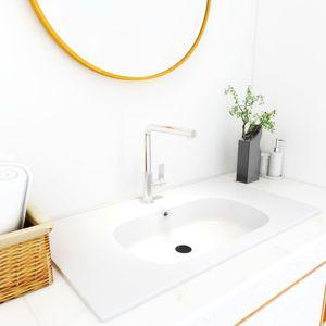 Waschtisch Einbauwaschbecken 900x460x105 mm SMC Weiß