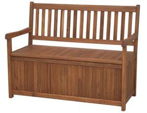 Siena Garden Gartenbank / Auflagenbox Melton 2-Sitzer Akazienholz