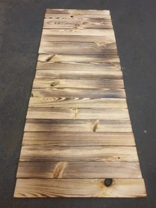 20 Stück neue geflammte Holz-bretter- Deko-Bastel-holz aus Nadelholz 50 x 6,5 x 1cm