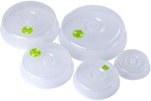 5 Stück Mikrowellenabdeckhaube Basic- aus Kunststoff (PP) - 5 Größen - transparent