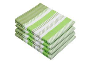 Geschirrtücher Baumwolle, grün, 50x70 cm, 4er Set