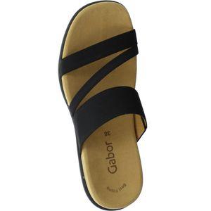 Gabor Damen Sandale Schwarz Schuhe, Größe:41