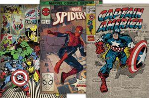 Marvel Retro Poster Set  91,5 x 61 cm