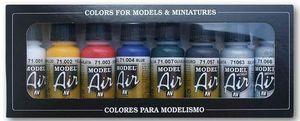 Vallejo Farben Model Air Basis Set 100 401 Airbrush Set Modellbau Farbe