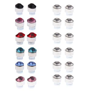 12 Paare Mischfarbe Magnetische Ohrstecker Ohrbolzen Ohrringe 6mm Dekoration Mehrfarbig Magnetisch