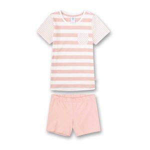 Sanetta Mädchen Schlafanzug Set - kurz, Kinder, 2-tlg., Streifen, 104-140 Rosa 104