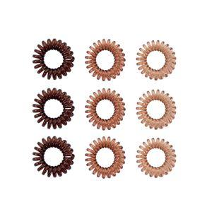 Oblique Unique 9 Spiral Haargummis Telefonkabel Zopfgummi Haarband für Mädchen Damen Frauen elastisch - braun